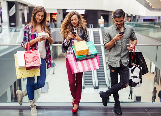 Shopping and Mobile Phones