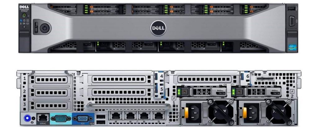 Dell PowerEdge R730xd_front back